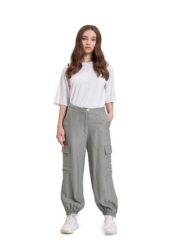 Mizalle Youth Aerobin Kargo Pantolon Yeşil